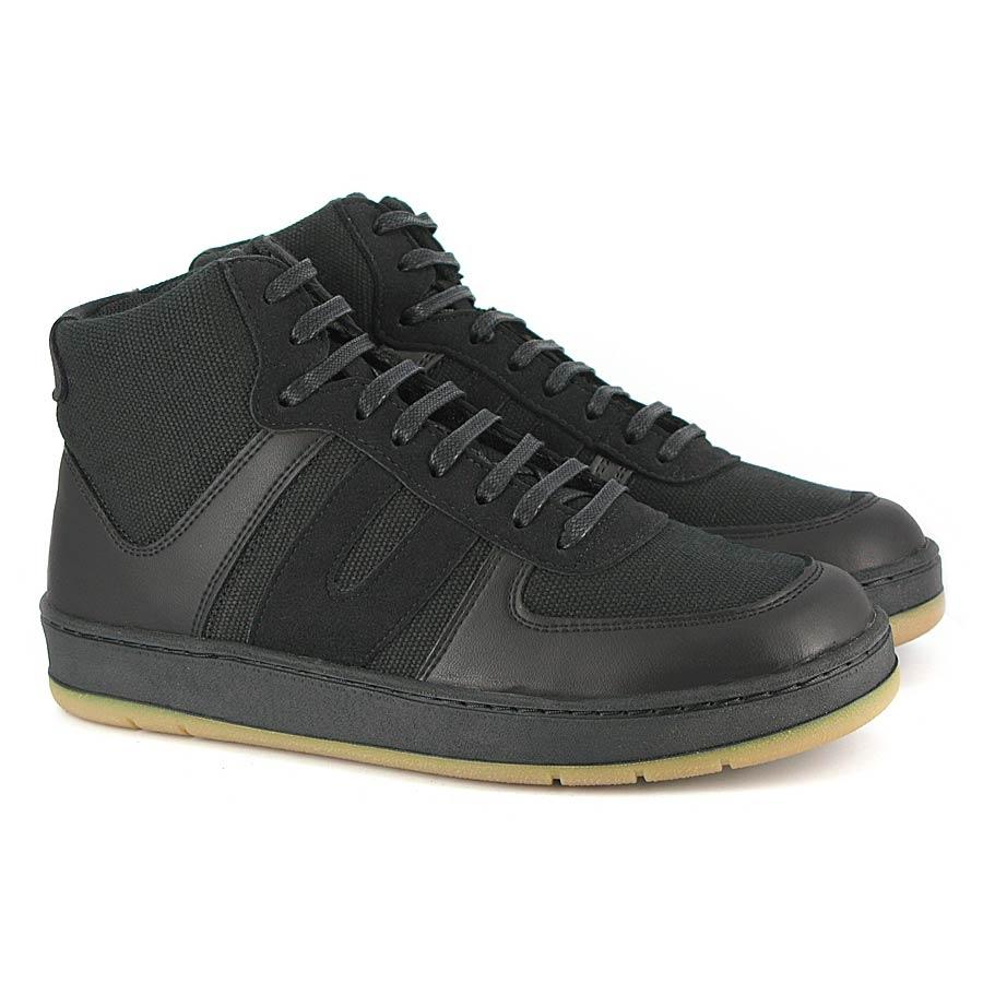 Veg Supreme Hemp Hi Top Sneaker schwarz