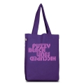 Fuzzy Black Lines Tote Bag