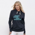 Fuzzy Black Lines Hooded Sweater